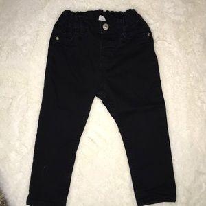 H&M black pants size 12-18 months